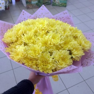 Букет ярких хризантем