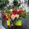 """Композиция """"Цветы в сумке"""""""