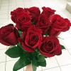 Букет из 9 красных роз 50 см