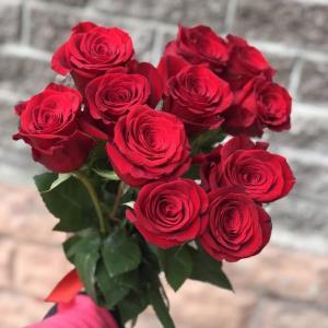 Букет из 11 красных роз 60 см